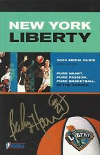 BECKY HAMMON AUTOGRAPHED 2002 WNBA NEW YORK LIBERTY MEDIA GUIDE