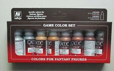 8 17ml Bottle Metallic Fantasy Game Color VALLEJO HOBBY PAINT MODELING SET 72303