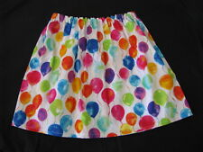 handmade clothes girl skirt party balloons multi colour birthday size 3