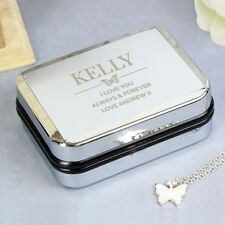 Personalised Case With Butterfly Neckalce Engraved Gift For Her, Birthdays