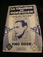 Partition La chanson du gondolier Tino Rossi Music Sheet
