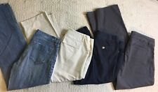Old Navy New Directions Blue Jeans Pants Capris Women Size 8/10, 31-34 Lot Of 4