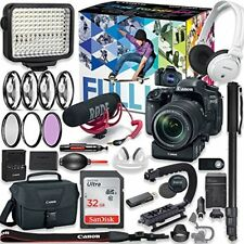 Canon EOS 80D DSLR Camera Premium Video Creator Kit w/18-135mm Lens