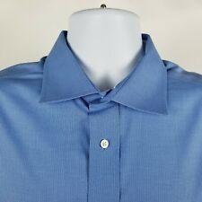 RECENT Jos A Bank Traveler Travel Tech Tailored Blue Dress Button Shirt 17-33