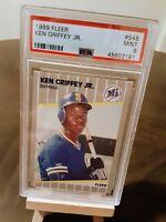 1989 Fleer Ken Griffey Jr. #548 Fleer RC Rookie Card PSA MINT 9