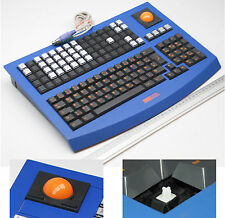 Skidata ps/2 Multimedia Mechanical Keyboard Tastiera Trackball Cherry Key German