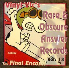 VINYL VIC'S 'Rare & Obscure Answer Records' - Vol# 18 - 28 VA Tracks