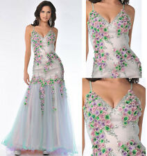 UNIQUE PAGEANT PROM COCKTAIL DRESS HOMECOMING EVENING FORMAL GOWN MULTI  Size 10