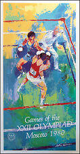 LeRoy Neiman Vintage Poster Boxing  XXII Olympiad 80 Fine Art Gallery MAKE OFFER