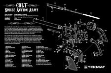 PISTOLA Pulizia armaiolo Bench Tappetino TekMat PER COLT Single Action Army 45 Revolver