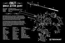COLT SINGLE ACTION ARMY 45 REVOLVER GUN CLEANING GUNSMITH BENCH / LAP TOP TEKMAT