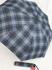 ESPRIT blau karierter Regenschirm für Damen und Herren 50355 AC Automatik