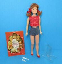 Vintage Barbie SKOOTER Doll Bend Leg - Pink Tone - Redhead Red Hair + Extras