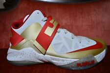 NEW NIKE ZOOM LEBRON SOLDIER VI 6 Championship Gold Ring Ceremony Size 12 PE
