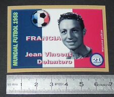 FRANCE JEAN VINCENT STADE REIMS COUPE MONDE FOOTBALL 1958 STYLE PANINI