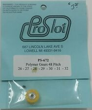 1/24 Scale Slot Car Pro Slot PS-672-28 Polymer Gear 48 Pitch 28 tooth PRICED EA
