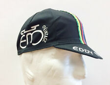 Eddy Merckx Vintage Cycling Cap Black. Made in Italy by Apis