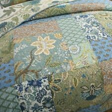Tropical Blue Grey Teal Aqua Brown Green Coastal Ocean Soft Beach Quilt Set
