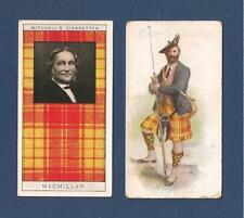CLAN MACMILLAN Clan Tartan SCOTLAND 2 original cards 1907 1922 Castle Sween