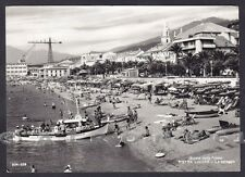 SAVONA PIETRA LIGURE 72 SPIAGGIA BAGNI Cartolina FOTOGRAFICA viaggiata