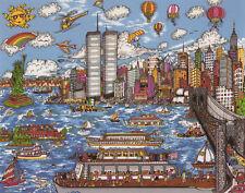 "Charles Fazzino, ""Gateway to New York"", small print matted, 4.75""h x 6.1""w image"