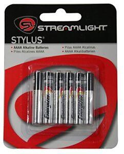 Streamlight Stylus Replacement AAAA Alkaline Batteries - 6 Pack