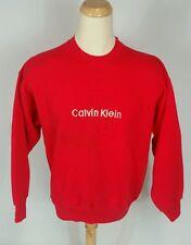 Vintage 90s Calvin Klein Big Logo Sweatshirt Red Xl Red Hip Hop Crew Ck