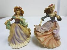 """TWO FIGURINES FROM THE LEONARDO COLLECTION """"DENISE"""" AND """"LOUISE"""" 1997"""