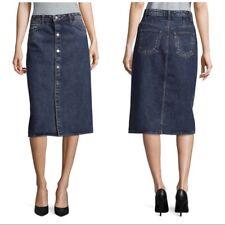 NWT $320 Helmut Lang Snap Front Denim Skirt 27