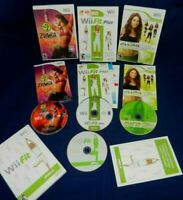 Lot of 4 Wii;Zumba Fitness,Jillian Michaels Fit 2009,Wii Fit +,w/Mans,Wii Fit,VG