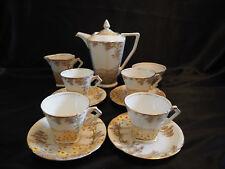 "Vintage Standard China ""Daisyfield"" Coffee Set w Coffee Pot Art Deco 1930s -11pc"