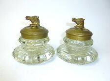 DEUX RARE tintenfäßer bronze Russie Vers 1880
