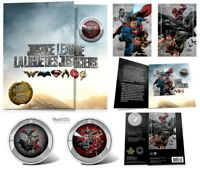 2018 Justice League 3D Lenticular Coin and Two Trading Cards