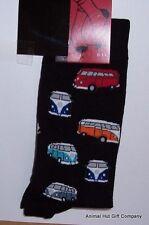Campervans on Black Mens/Womens Socks
