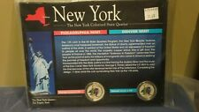 NEW YORK STATE QUARTERS COLORED WITH INFORMATION CARD