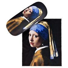 Brillenetui Hardcase Box Motiv Kunst Damen Vermeers Mädchen mit Perlenohrring