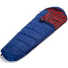 skandika Aberdeen sacco a pelo Mummia destra Abbinare -20°C blu 220x80cm nuovo