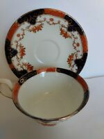 Antique CORONET England Bone China Wide Mouth Cup & Saucer #1114