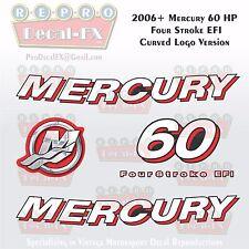 2006+ Mercury 60HP Crv Decal EFI FourStroke Outboard Repro 5 Pc Curved Logo Ver.