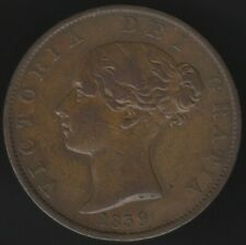 1839 Isle Of Man Victoria Halfpenny Coin | British Coins | Pennies2Pounds