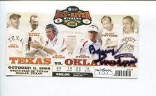 Barry Switzer Oklahoma Sooners Red River Rivalry Signed Autograph Ticket JSA
