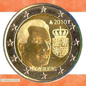 Sondermünzen Luxemburg: 2 Euro Münze 2010 Wappen Sondermünze zwei€ Gedenkmünze