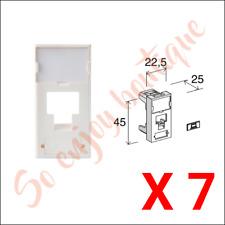 3M FP2MF1K - lot 7 Enjoliveurs / Faces avant 22,5x45 pour 1 poste RJ45 - Blanc