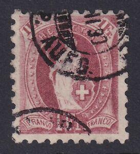 SWITZERLAND 1888 USED #93, HELVETIA PERF. 9 1/2 !! X82