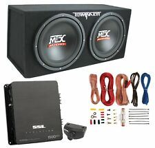 "MTX 12"" 1200W Dual Loaded Car Audio Subwoofers with Box Enclosure Package"