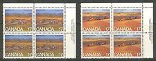 Canada #863-864, 1980 17c Alberta & Saskatchewan - 75th Anniversary, PB4 Set NH