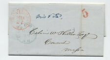 1847 Providence RI missent and forwarded stampless Concord NH [4366.191]