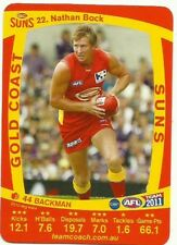 2011 AFL TEAMCOACH GOLD COAST SUNS NATHAN BOCK 22 COMMON CARD free post