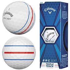 CALLAWAY E.R.C SOFT TRIPLE TRACK WHITE GOLF BALLS / 3 BALL PACK / NEW FOR 2020