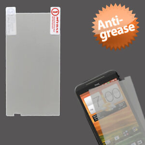 Clear Anti-grease LCD Screen Protector +cloth wipe for HTC EVO 4G LTE